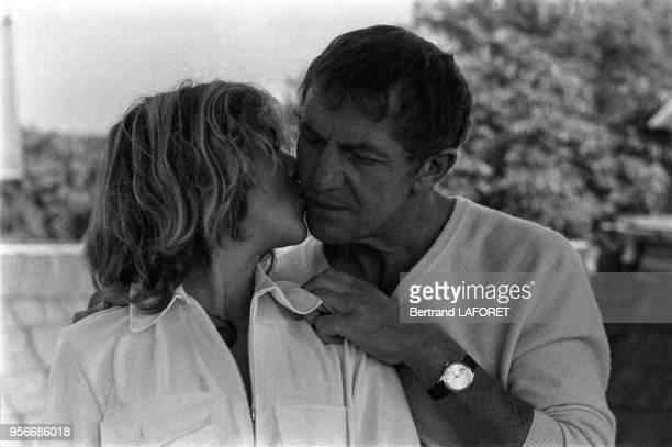 Anne Bennent et son son père Heinz Bennent lors du tournage du film 'Lulu' à Berlin le 1er octobre 1979 Allemagne