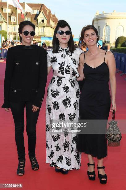 Anne Berest Rebecca Zlotowski and Irene Jacob attend the Galveston Premiere during the 44th Deauville American Film Festival on September 1 2018 in...