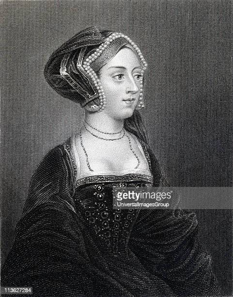 Anne Boleyn also spelled Bullen15071536 Second wife of Henry VIII From the book 'Lodge's British Portraits' published London 1823
