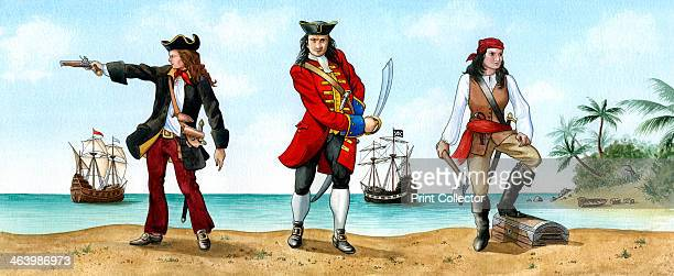 Anne Bonny John 'Calico Jack' Rackam and Mary Read 18th Century Pirates