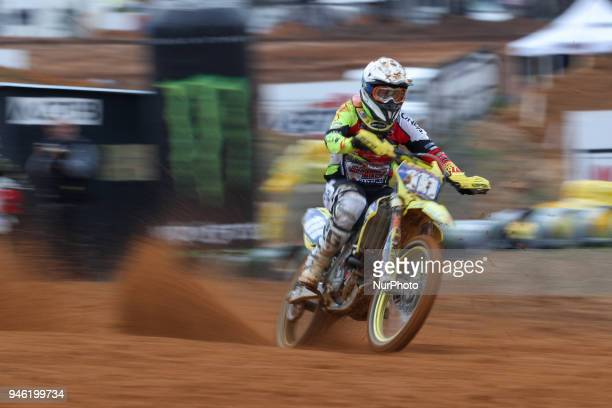 Anne Borchers in Suzuki WMX in action during the MXGP World Championship 2018 Race of Portugal on April 14 2018 in Agueda Portugal