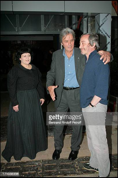 Anne Bourgeois and Alain Delon Last representation of the play The Seagull by Anton Tchekov at the 14 theater