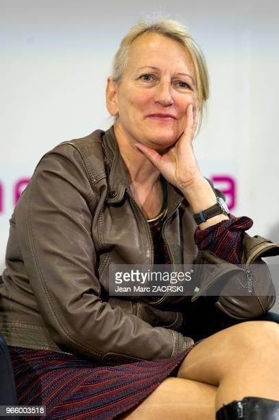 Anne Brécart écrivain et traductrice littéraire suisse lauréate du Prix Schiller Découverte lors du 31e salon du livre et de la presse le 27 avril...