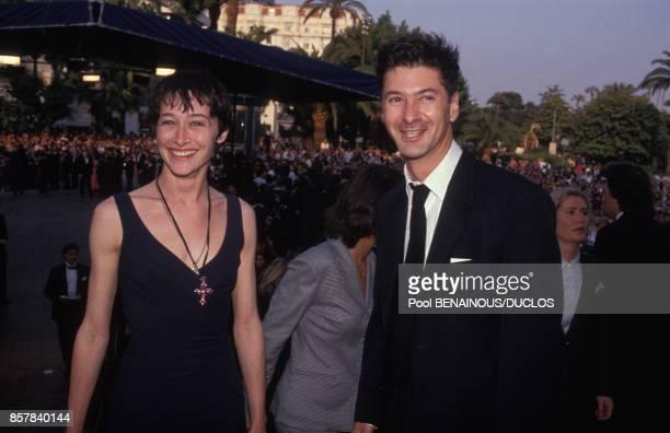 Anne Brochet et Etienne Daho au 45eme Festival de Cannes le 15 mai 1992 a Cannes France