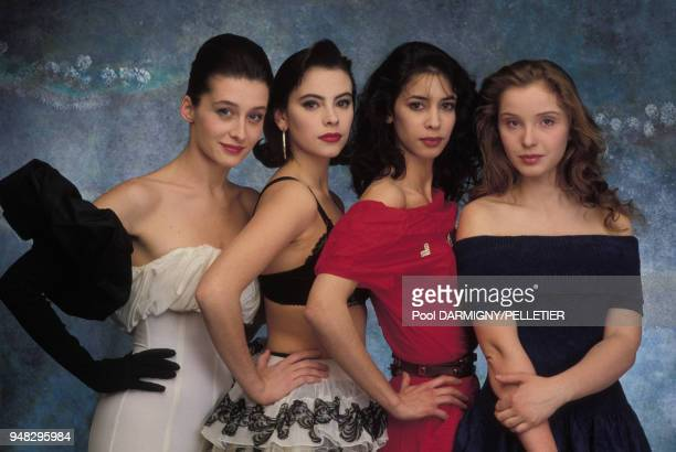 Anne Brochet Mathilda May Sophie Renoir et Julie Delpy jeunes meilleurs espoirs des Césars en février 1988 France