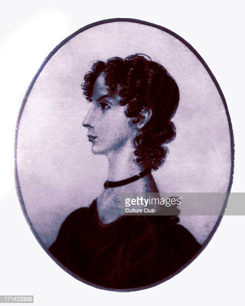 Anne Brontë in original version painted by her sister Charlotte Brontë 17 June 1834 AB British novelist and poet 17 January 1820 – 28 May 1849 CB...