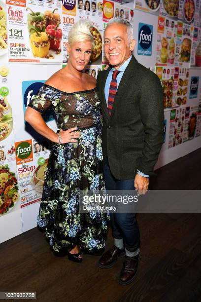 Anne Burrell and Geoffrey Zakarian attend the Food Network Magazine's 10th Birthday Celebration at Chelsea Piers at Pier 59 on September 13 2018 in...