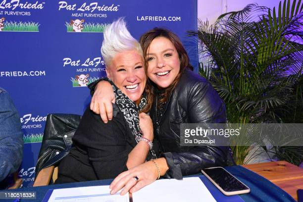 Anne Burrell and Rachael Ray attend the Blue Moon Burger Bash presented by Pat LaFrieda Meats hosted by Rachael Ray at Pier 97 on October 11 2019 in...