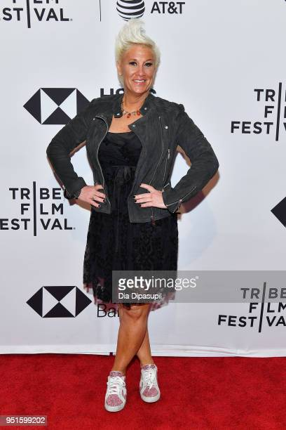 Anne Burrell attends a screening of 'RX Early Detection A Cancer Journey With Sandra Lee' during the 2018 Tribeca Film Festiva at SVA Theatre on...
