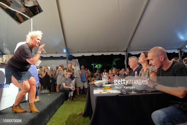Anne Burrell Paul Reiser Lily Aldridge and Zane Lowe attend the Music City Food Wine Festival's Friday Night Throwdown at Bicentennial Capitol Mall...