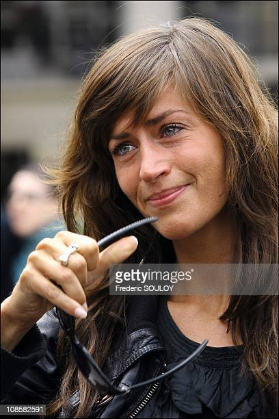 Anne Caillon in Paris France on June 26 2006