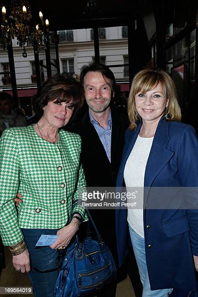 Anne Cassel Bruno Finck and Daniele Gelin wife of Xavier Gelin attend Homage To French Actor JeanClaude Brialy at Theatre des Bouffes Parisiens with...