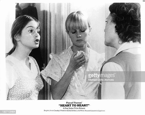 Anne Caudry and Elisa Servier in a scene from the film 'Heart To Heart', 1979.