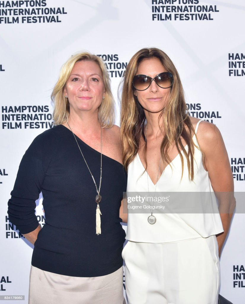 Anne Chaisson and Cristina Cuomo attend the The Hamptons International Film Festival SummerDocs Series Screening of WHITNEY. 'CAN I BE ME' at UA Southampton 4 Theatres on August 17, 2017 in Southampton, New York.