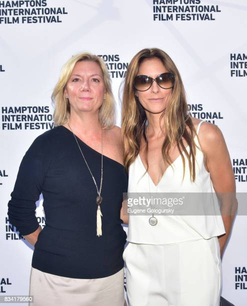 Anne Chaisson and Cristina Cuomo attend the The Hamptons International Film Festival SummerDocs Series Screening of WHITNEY CAN I BE ME at UA...