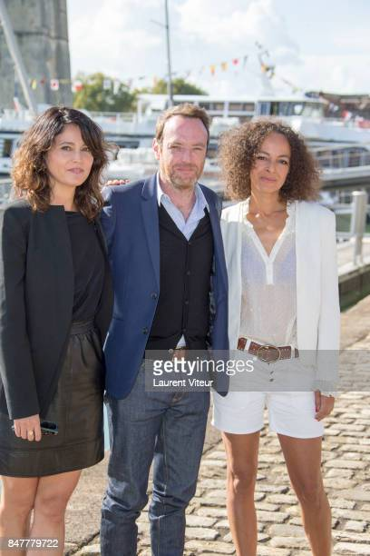 Anne Charrier Nicolas Grandhomme and Alika Del Sol attend Pretes a Tout Photocall during the 19th Festival of TV Fiction at La Rochelle on September...