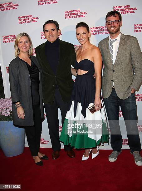 Anne Chiasson Peter Brant Hilary Swank and David Nugent attend the 'Homesman' premiere at Guild Hall on October 12 2014 in East Hampton New York
