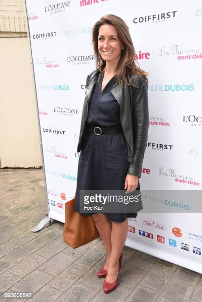Anne Claire Coudray attends 'La Flamme Marie Claire 2017 Toutes A L'Ecole' Children Care Auction Press conference Hosted by Delacre at Hotel Le...