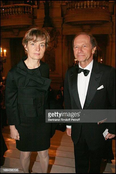 Anne Claire Taittinger and Jean Claude Meyer at Gala Evening At L'Opera Garnier Titled Ensemble Pasteur Weizmann Care International Pour La Paix Dans...