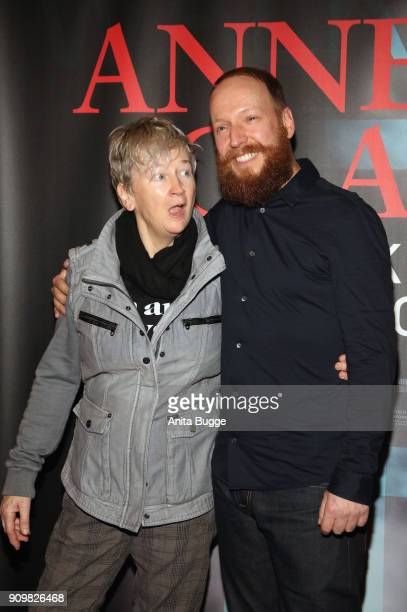 Anne Clark and director Claus Withopf attend the 'Anne Clark I'll walk out into tomorrow' premiere on January 24 2018 in Berlin Germany