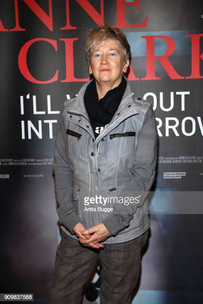Anne Clark attends the 'Anne Clark I'll walk out into tomorrow' premiere on January 24 2018 in Berlin Germany