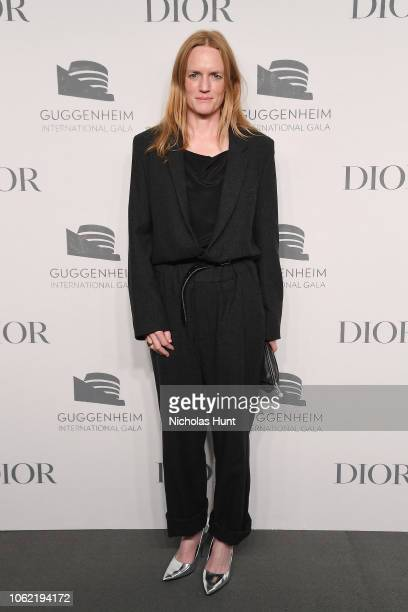 Anne Collier attends the Guggenheim International Gala Dinner made possible by Dior at Solomon R Guggenheim Museum on November 15 2018 in New York...
