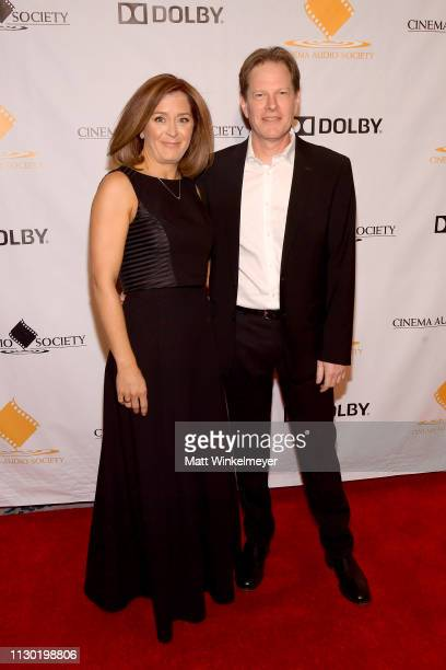 Anne Colomby and Michael Colomby attend the 55th Annual Cinema Audio Society Awards at InterContinental Los Angeles Downtown on February 16 2019 in...