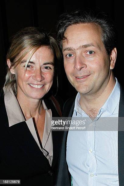 Anne Consigny and Eric de Chassey Villa de Medici Director attend a private dinner hosted by designer Azzedine Alaia in honor of Adel Abdessemed...