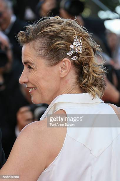 Anne Consigny attends a screening of 'Elle' at the annual 69th Cannes Film Festival at Palais des Festivals on May 21 2016 in Cannes France