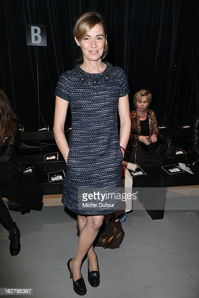Anne Consigny attends the Alexis Mabille Fall/Winter 2013 ReadytoWear show as part of Paris Fashion Week on February 27 2013 in Paris France