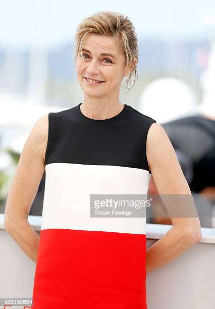 Anne Consigny attends the 'Elle' Photocall during the 69th annual Cannes Film Festival at the Palais des Festivals on May 21 2016 in Cannes France