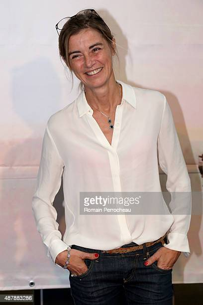 """Anne Consigny attends the photocall of """"Les Revenants"""" as part of the 17th Festival of TV Fiction of La Rochelle on September 12, 2015 in La..."""
