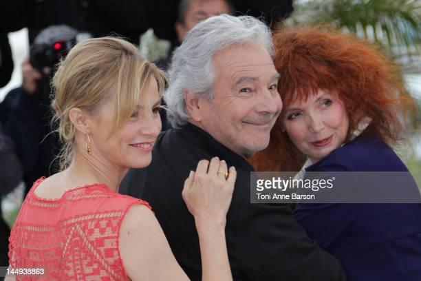 Anne Consigny Pierre Arditi and Sabine Azema attend 'Vous N'avez Encore Rien Vu' Photocall at Palais des Festivals on May 21 2012 in Cannes France