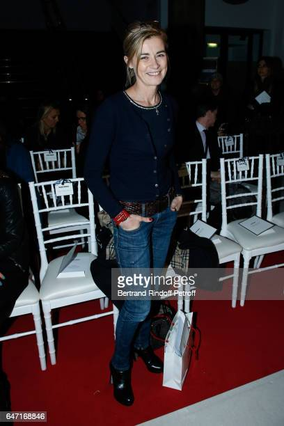 Anne Conssigny attends the Alexis Mabille show as part of the Paris Fashion Week Womenswear Fall/Winter 2017/2018 on March 2 2017 in Paris France