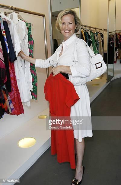 Anne Crawford during Diane Von Furstenberg and C Magazine Host Shop For Your Cause at Diane Von Furstenberg store in Los Angeles California United...