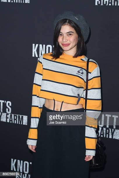 Anne Curtis arrives at Knott's Scary Farm and Instagram's Celebrity Night at Knott's Berry Farm on September 29 2017 in Buena Park California