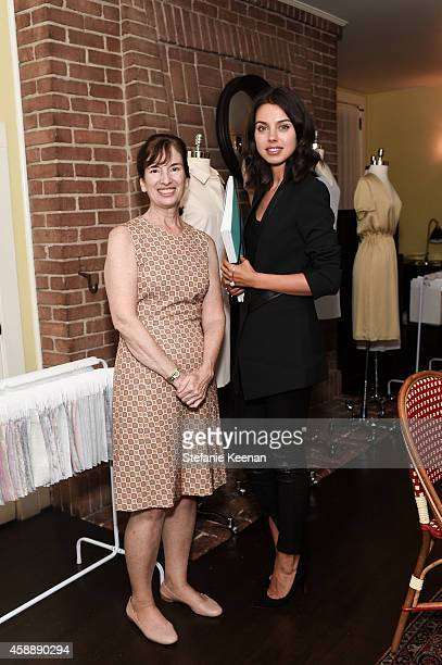 Anne Dayton and Annabelle Fleur attend PIOL Dressmaking Event LA at Chateau Marmont on November 12 2014 in Los Angeles California