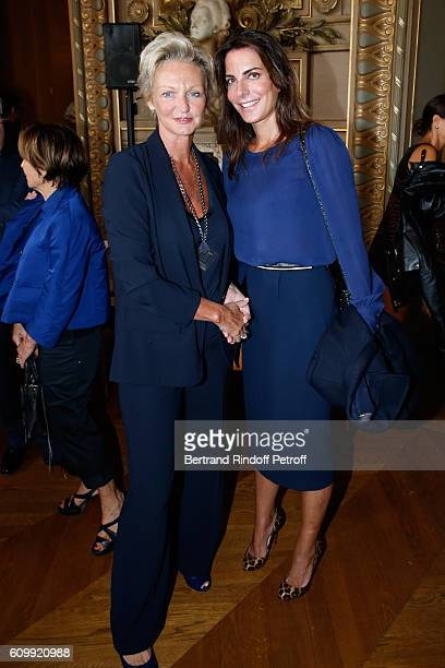 Anne de Bourbon Siciles and Princess Lorenza de Liechtenstein attend Cyril Karaoglan receives the Medal of Commander of Arts and Letters at Opera...