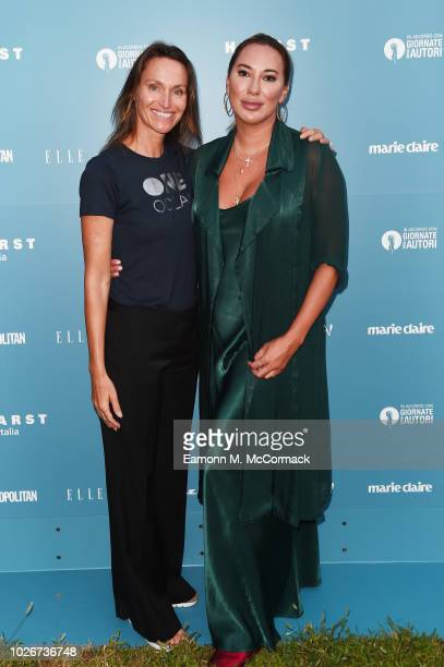 Anne de Carbuccia and Alexandra Meyers attend One Ocean at Venice Film Festival on September 4 2018 in Venice Italy