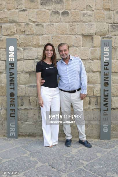 Anne de Carbuccia and Andrea Buccellati attend One Planet One Future Cocktail Party on June 22 2018 in Naples Italy