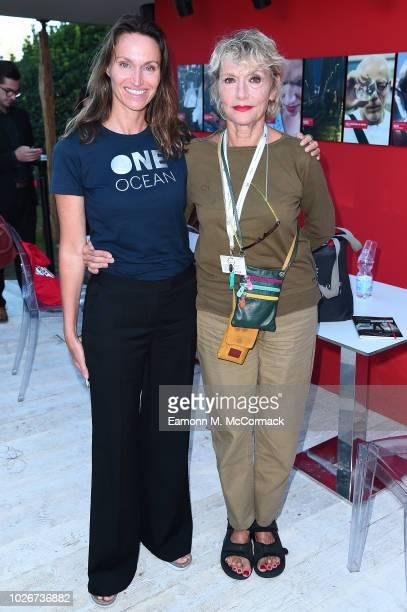 Anne de Carbuccia and Anselma Dell'Olio attend One Ocean at Venice Film Festival on September 4 2018 in Venice Italy