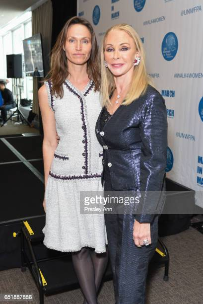 Anne De Carbuccia and Barbara Winston attend The United Nations Women for Peace Association's Annual Awards Luncheon on March 10 2017 in New York City