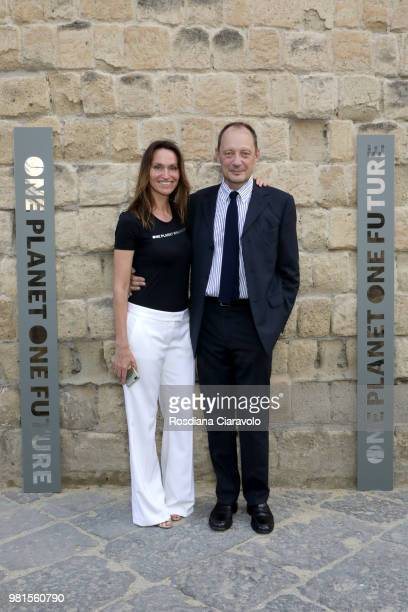 Anne de Carbuccia and Brun Max attend One Planet One Future Cocktail Party on June 22 2018 in Naples Italy