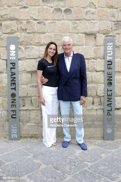 Anne de Carbuccia and Francesco Colombo attend One Planet One Future Cocktail Party on June 22 2018 in Naples Italy