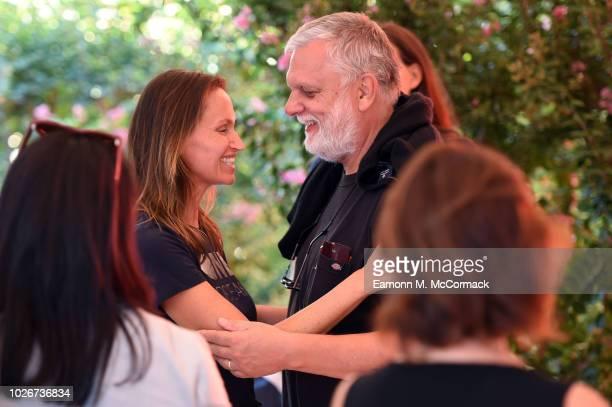 Anne de Carbuccia and JeanLuc de Carbuccia attend One Ocean at Venice Film Festival on September 4 2018 in Venice Italy