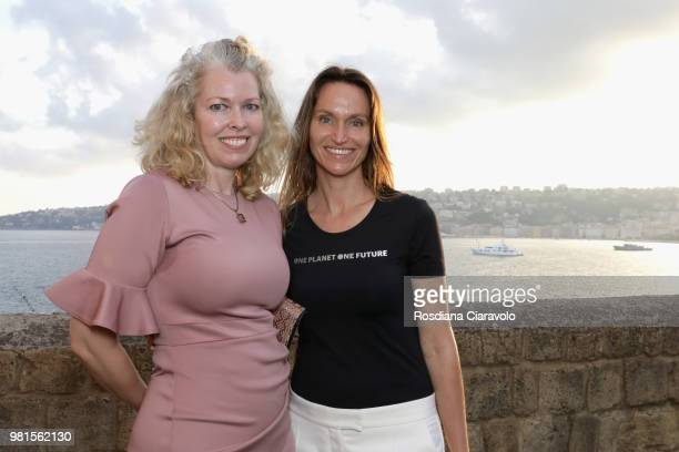 Anne de Carbuccia and Julie Pullen attend One Planet One Future Cocktail Party on June 22 2018 in Naples Italy