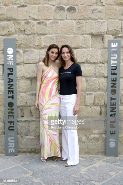 Anne de Carbuccia and Pilar Pandini attend One Planet One Future Cocktail Party on June 22 2018 in Naples Italy