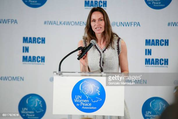 Anne De Carbuccia at The United Nations Women for Peace Association's Annual Awards Luncheon on March 10 2017 in New York City