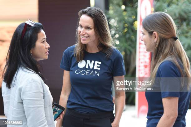 Anne de Carbuccia attends One Ocean at Venice Film Festival on September 4 2018 in Venice Italy