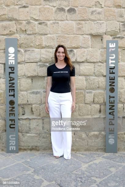 Anne de Carbuccia attends One Planet One Future Cocktail Party on June 22 2018 in Naples Italy